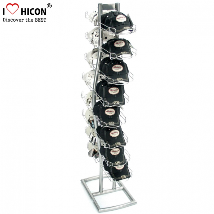 Unique Flooring Baseball Cap Holder Hat Display Rack For Retail Store