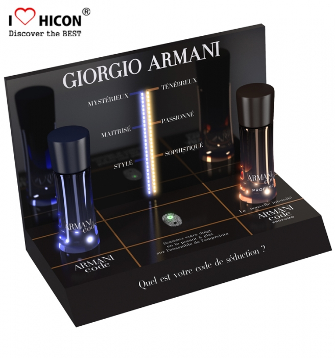 Cosmetics Products Shop Counter Design Retail Acrylic Display Stand Countertop