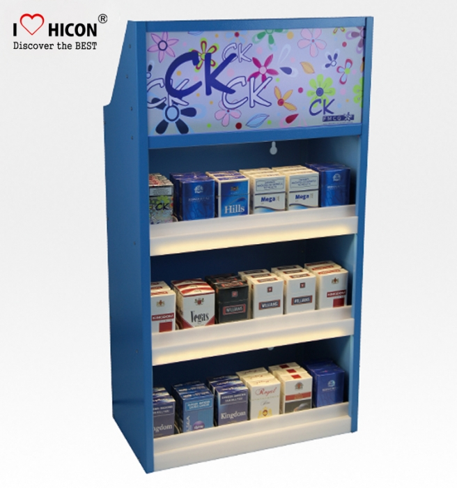 Creat Value Acrylic Tobacco Cigarette Display Unit Cigarette Display Cabinet